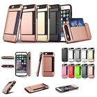 SIM&Eject Pin Solt&ID Credit Card Pocket Wallet Case Cover For iPhone 6 6s Plus