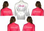 Personalised Multiple Pack of Satin Bridal Robe / Dressing Gowns Wedding 5 6 7 8