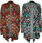 New Plus Size Womens Print Long Sleeve Top Ladies Open Knitted Cardigan 14 - 28