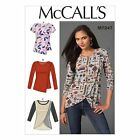 McCalls 7247 Overlay Drape T-shirt Long Short Sleeves Top Sewing Pattern M7247