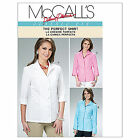McCalls 6076 3/4 Long Sleeves 'The Perfect Shirt' Sewing Pattern M6076 3in1!