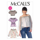 McCalls 7163 Elasticated Gathered Gypsy Top XS-Plus Size Sewing Pattern M7163