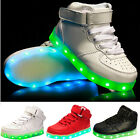 Kids Boys Girls USB Charging LED Light Up Luminous Sports Shoes Causal Sneakers