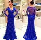 2016 New Sexy V-Neck Evening Party Gowns Long Sleeves Back SeeThrough Prom Dress