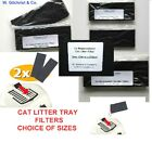 CAT LITTER TRAY FILTERS -PREMIUM CARBON FILTERS -NEUTRALISE ODOURS -CHOOSE SIZE
