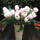 Party Craft Floral Silk Flower 1 Bouquet Home Rose Tulip Decor 9 Heads