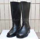 BLACK WWII MILITARY STYLE GERMAN EM LEATHER COMBAT BOOTS IN SIZES-L1059