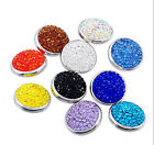 wholesales lot 10 mixed 18-20mm Clay Rhinestone ginger snaps buttons