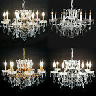 8 Branch Shallow Cut Glass Metal Chandelier Antique French Vintage Good Quality