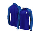 MLB Los Angeles Dodgers Women's Extremely Clear Cool Base Raglan 1/2 Zip on Ebay