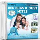 Deep Pocket Mattress Protector Bed Bug Water Proof Pad Bedding Cover Polyester image