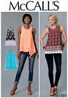McCalls 7389 Pullover Sleeveless Top with Overlays No Zip Sewing Pattern M7389