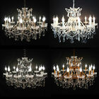 12 Branch Shallow Cut Glass Metal Chandelier Antique French Vintage Good Quality