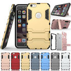 Hybrid Rugged Shockproof Armor Case Stand Cover For iPhone 7 8 Plus 5 5s SE 6 6s