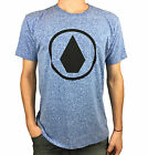 VOLCOM. Mens Short Sleeve Logo T-Shirt. Blue / Grey / Red. Mens Size: S, L, XL