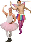 Adults Tutu Fancy Dress Mens Ballerina Costume Rainbow Fairy Skirt Stag Do Party