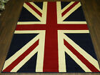 8FT X 5FT APPROX UNION JACK QUALITY BRITISH RETRO MODERN RED WHITE BLUE FLAG