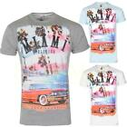Mens Soulstar Miami Beach Print Short Sleeve Crew Neck Cotton T-Shirt Size