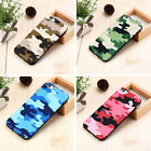 Fashion Camo Camouflage Army Soft TPU Back Cover Case For Apple iPhone 6 6S 7 +