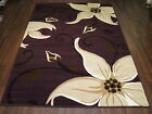 FLORAL RUG PURPLE LILY FLORAL  MODERN DESIGN TOP QUALITY WOVEN BACKED SALE PRICE