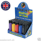 TORJET Lighters Windproof Jet Flame Refillable Electronic Colour WeatherProof