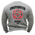 SWEATSHIRT HOODIES FIREFIGHTER RESCUE TEAM FIRE-BRIGADE SWEATSHIRT !!! FF8G
