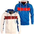 Mens Soulstar Contrast Panels Mesh Details Hoodie Sports Jacket Hooded Track Top