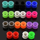 """11 PAIR SET - Soft Silicone Ear Tunnels Plugs Gauges Earlets 8g--1"""" Jewelry Lot"""