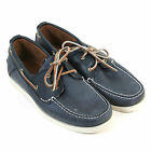 Timberland Men's Heritage 2-Eye Boat 6367A Leather Lace Up Shoe Navy