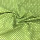 LIME GREEN colour POLKA DOT 100% cotton fabric  per FQ, half metre or metre