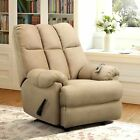 Massage Recliner Sofa Chair Deluxe Ergonomic Lounge Heated W Control White Tan