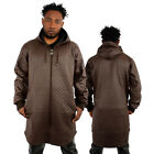 Dirty Money Over Size Faux Leather Quilted Long Length Hoodie Hip Hop Jayz Kanye