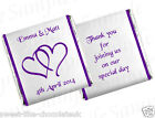 ** 80 PERSONALISED CHOCOLATE WEDDING/ANNIVERSARY FAVOURS - HEARTS **