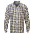 Craghoppers Mens Claude Casual Long Sleeve Shirt in Dusk Blue Checkered