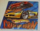 Party Supplies Napkins Cups Hot Wheels Crash and Burn Super Charged Patterns NIP