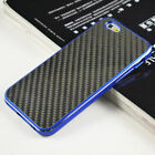Deluxe Carbon Fiber Metal Aluminum Bumper Glass Back Case For iPhone 6/6 Plus