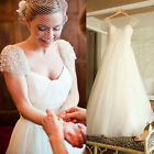 Graceful Beaded Wedding Dresses A-Line Bridal Gowns Tulle Formal Wedding Gown