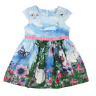 Summer Baby Kids Girl Tutu Dress Bunny Flower Print Sundress Comfy Princess 2-7Y