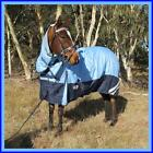 Love My Horse 1200D 5'0-6'9 Reflective Rainsheet Combo Rug Waterproof Blue/Navy