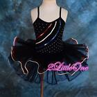 Ballet Tutu Girl Dance Costume Pageant Fairy Dress Up W Arm Mitts Black 2T-8 034