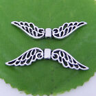 10/20/100Pcs Tibetan Silver Hollow Fancy Angel Wing Charms Spacer Beads 42mm New
