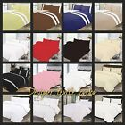 Plain Dyed 3 Pcs Duvet Cover with Pillow Case Quilt Cover Bedding Set all sizes