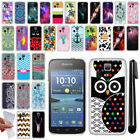 For Kyocera Hydro Icon C6730 Life C6530 TPU Protective SILICONE Case Cover + Pen