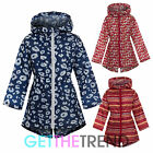 Girls Hooded Printed Raincoat Toddlers Novelty Kagool Kag Waterproof Rain Coat