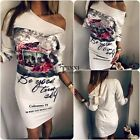 Sexy Women Off Shoulder Floral Bandage Bodycon Evening Cocktail Party Mini Dress