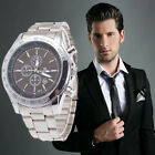 Luxury Business Watch Mens Date Analog Stainless Steel Dial Dress Watch Bracelet
