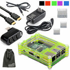 EEEKit for Raspberry Pi 3 Model B,Enclosure Case Box+Wall Charger+HDMI Cable+Hub