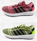 Original Womens Adidas Element Refine Tricot Lime Pink White Trainers