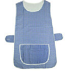 LADIES WOMEN TABARD APRON OVERALL KITCHEN CATERING CLEANING BAR PLUS SIZE POCKET