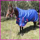 Love My Horse 5'3 - 6'6 1200D 300g Fill Wug Horse Rug Royal Blue / Pink